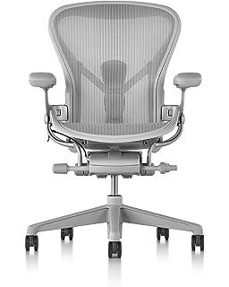 Herman Miller Aeron Chair, Size C, Mineral