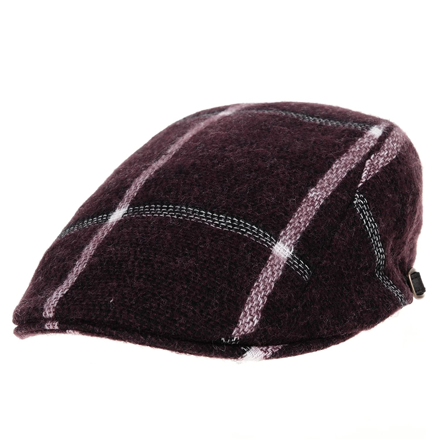 WITHMOONS Flat Cap Tattersall Plaid Check Soft Warm Rayon Ivy Hat LD3409