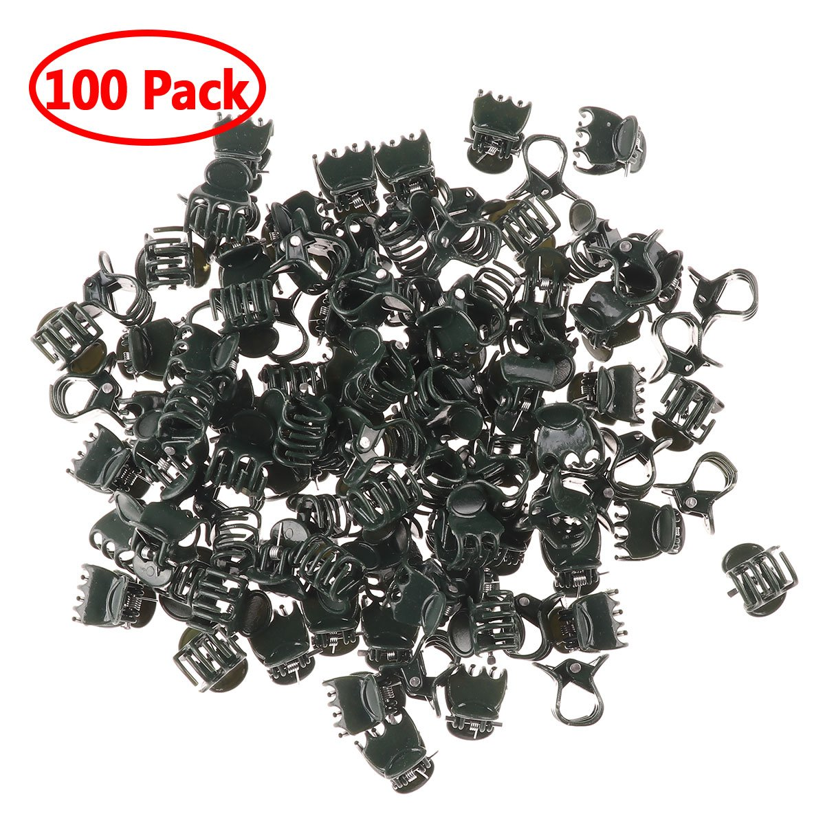 iiniim 100pcs Plant Support Clips Garden Clips Flower Orchid Stem Clips for Orchid Support YD-10056010-UK