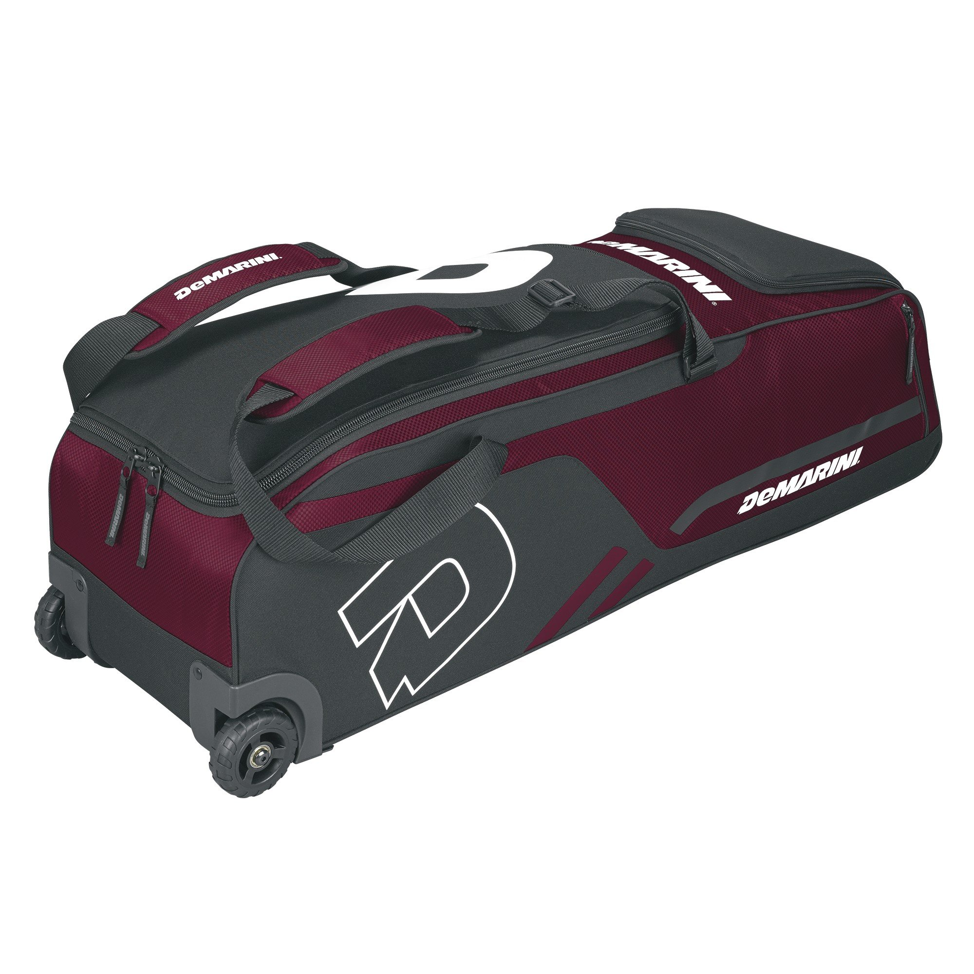 DeMarini Momentum Wheeled Bag, Maroon by DeMarini