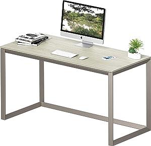 SHW Triangle-Leg Home Office Computer Desk, Silver/Gray