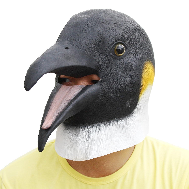 PartyCostume Deluxe Innovante Toussaint Costume R/éunion Botanique Animalia T/ête Masque Le Pingouin Sondage