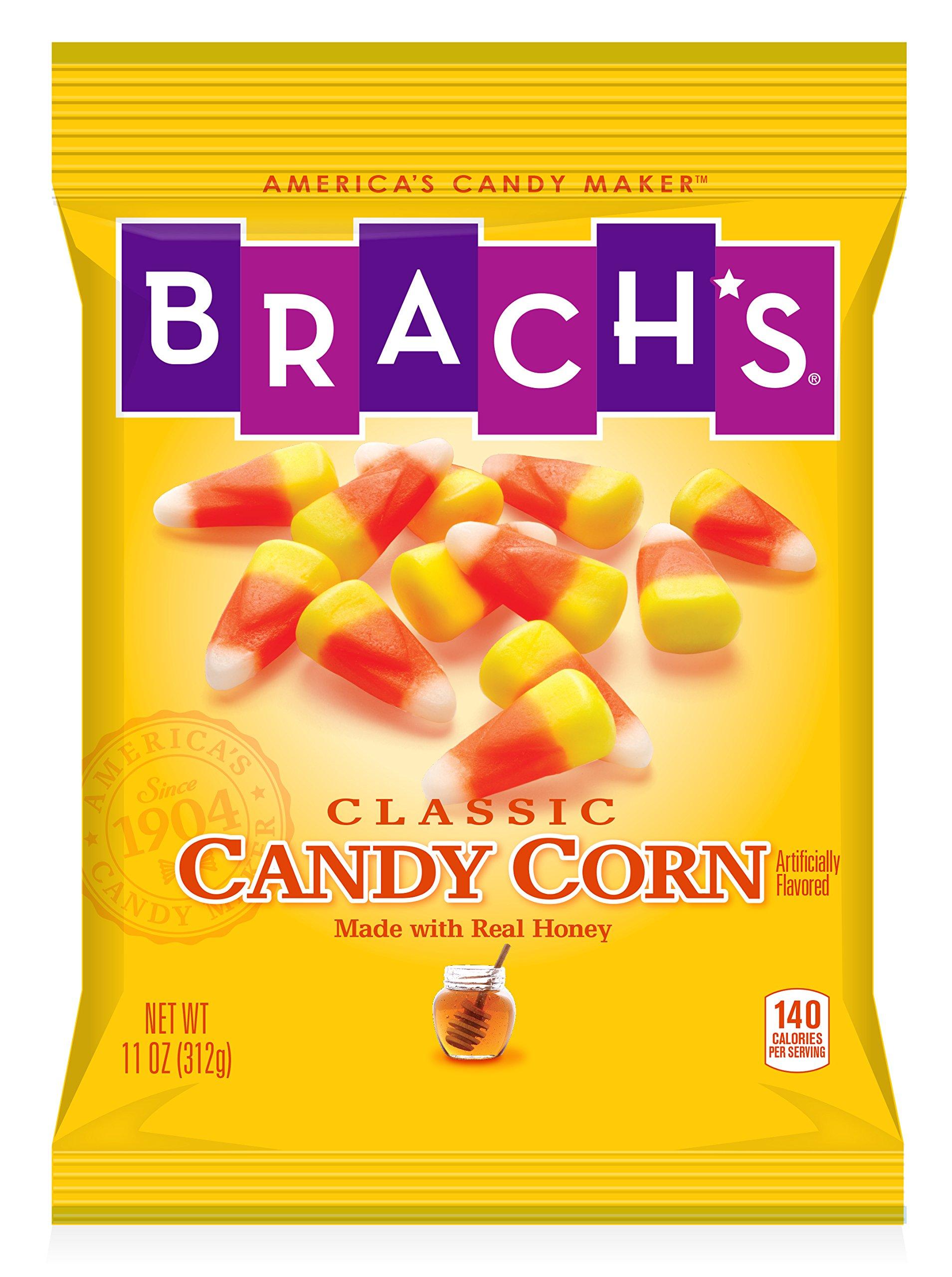 Brach's Candy Corn, 11 Ounce Peg Bag (Pack of 8) Halloween Candy