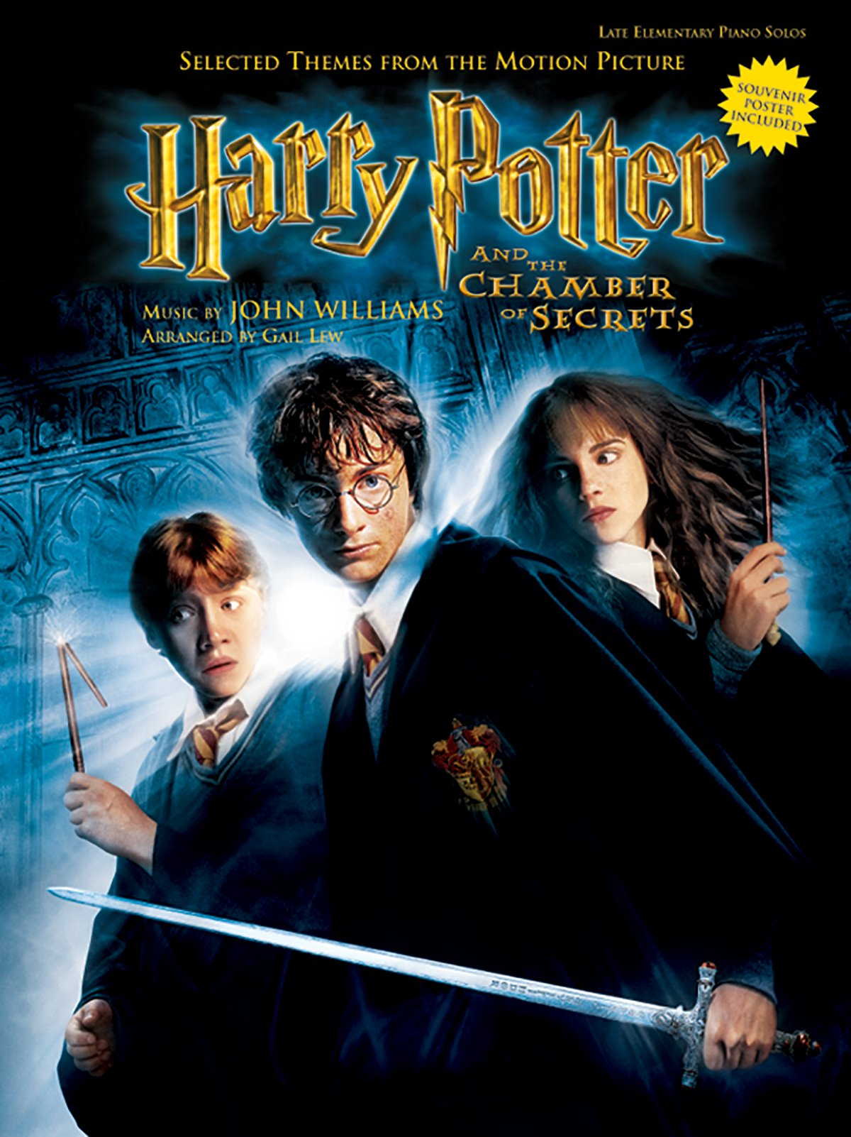 Selected Themes from the Motion Picture Harry Potter and the Chamber of Secrets: Level 2, Book & Poster