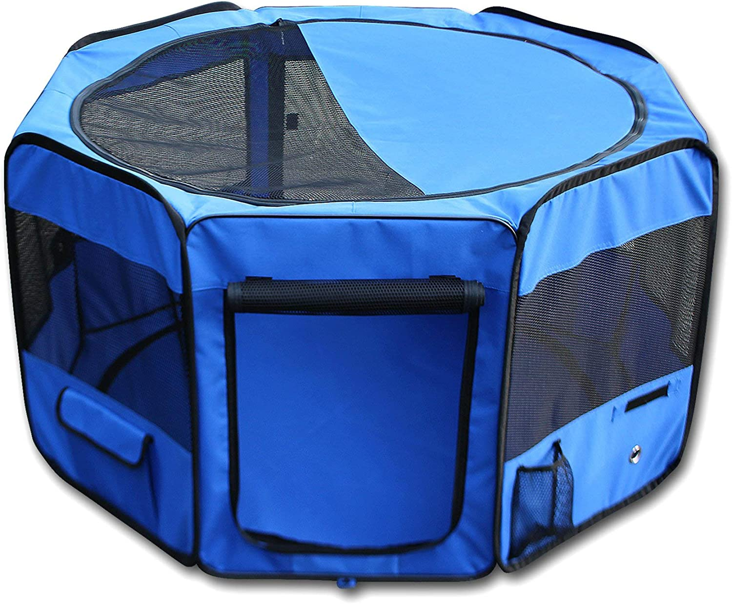 YoYo Moon 45 Pet Puppy Dog Playpen Exercise Puppy Pen Kennel 600d Oxford Cloth Blue