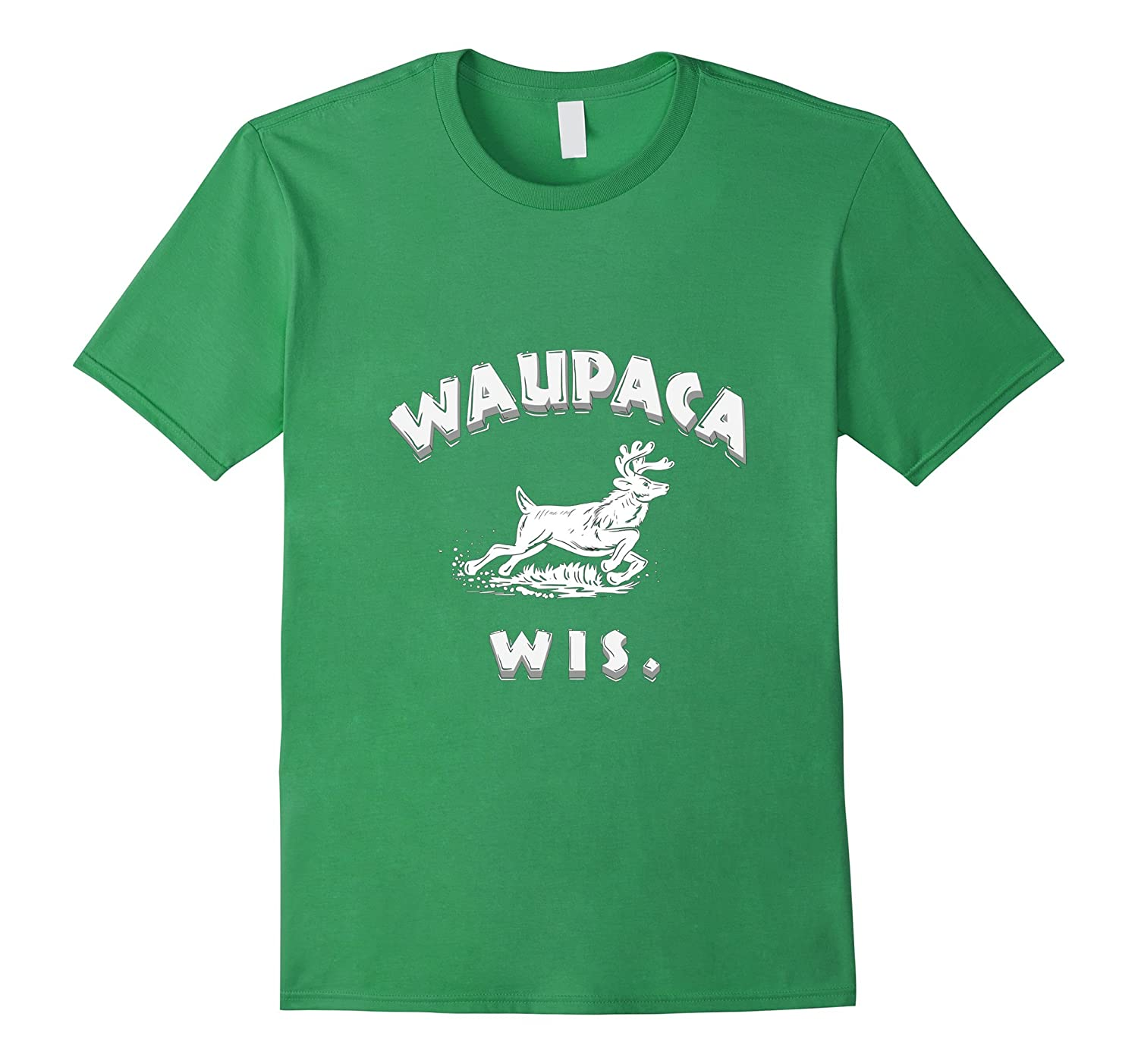 Waupaca Wis T Shirt Wisconsin High Resolution Design-FL