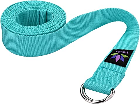 Veda Yoga Strap 8ft - Pilates, Exercise, Stretching - Durable Cotton