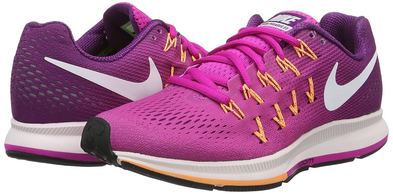 f469857b97d5 Nike Women s Air Zoom Pegasus 33 Fire Pink White Bright Grape Running Shoe  6  Amazon.in  Shoes   Handbags