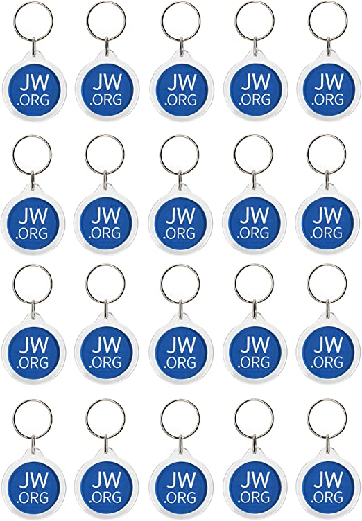 Jw.org No Blood Double Sided Key Chain for Jehovahs Witnesses-Round-20 Pack
