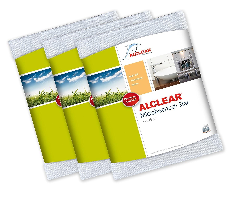 ALCLEAR 950006_3 3-er Set Microfasertuch Star Spezialtuch für Bad ...