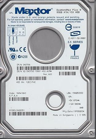 6Y080L0 Code YAR41BW0 NFBA Maxtor 80GB IDE 35 Hard Drive