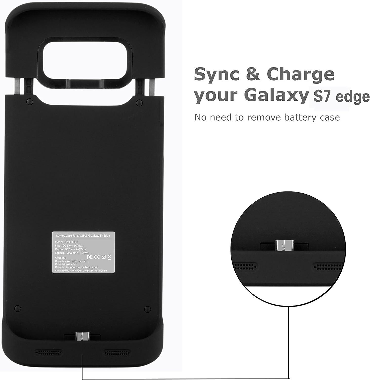 KiWiBiRD 5000mAh Funda de batería para Samsung Galaxy S7 Edge ...