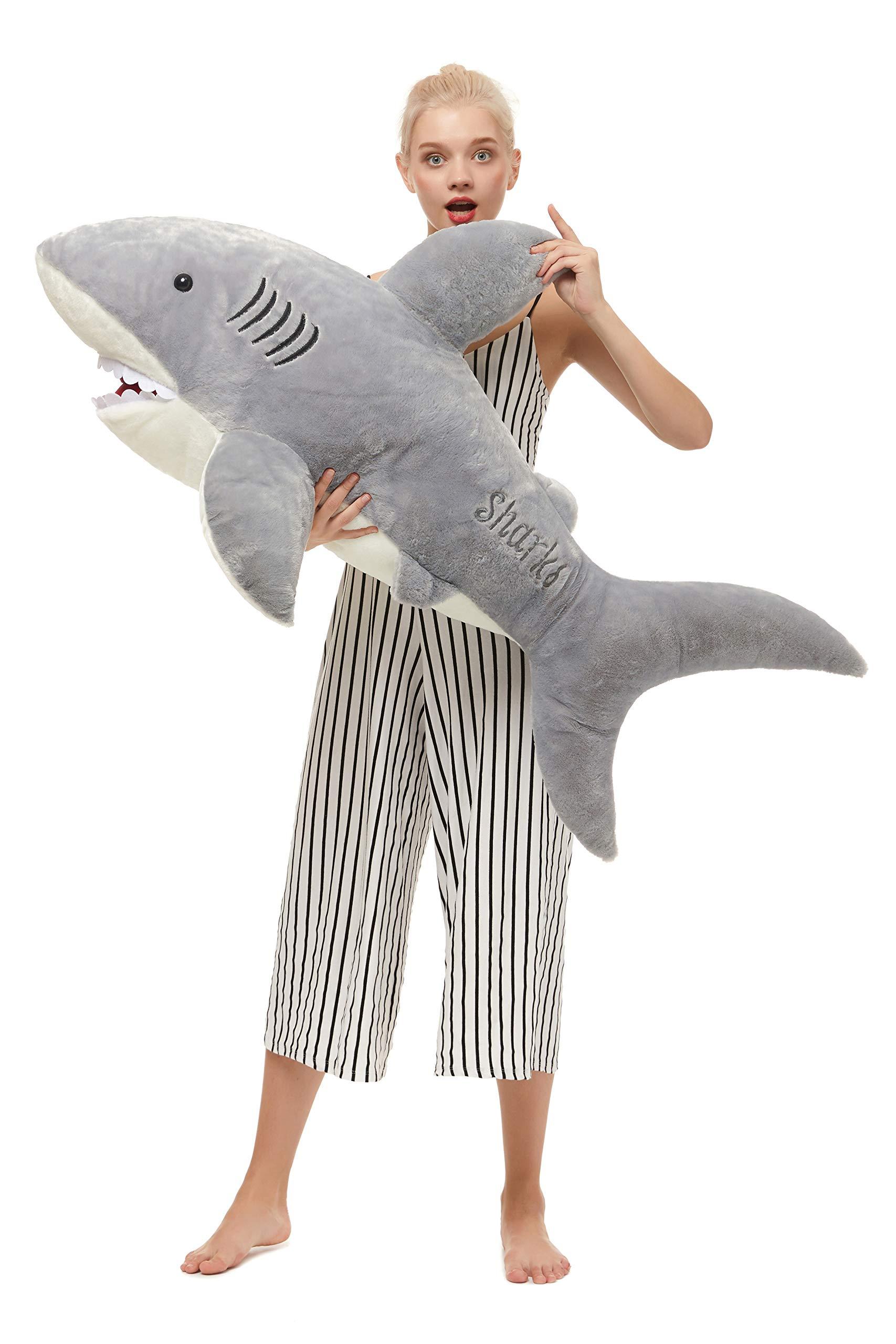 MorisMos Giant Shark Stuffed Animal,Gray Shark Plush Pillow,Plush Toy,Gift for Kids Girlfriend,51 Inches by MorisMos (Image #4)