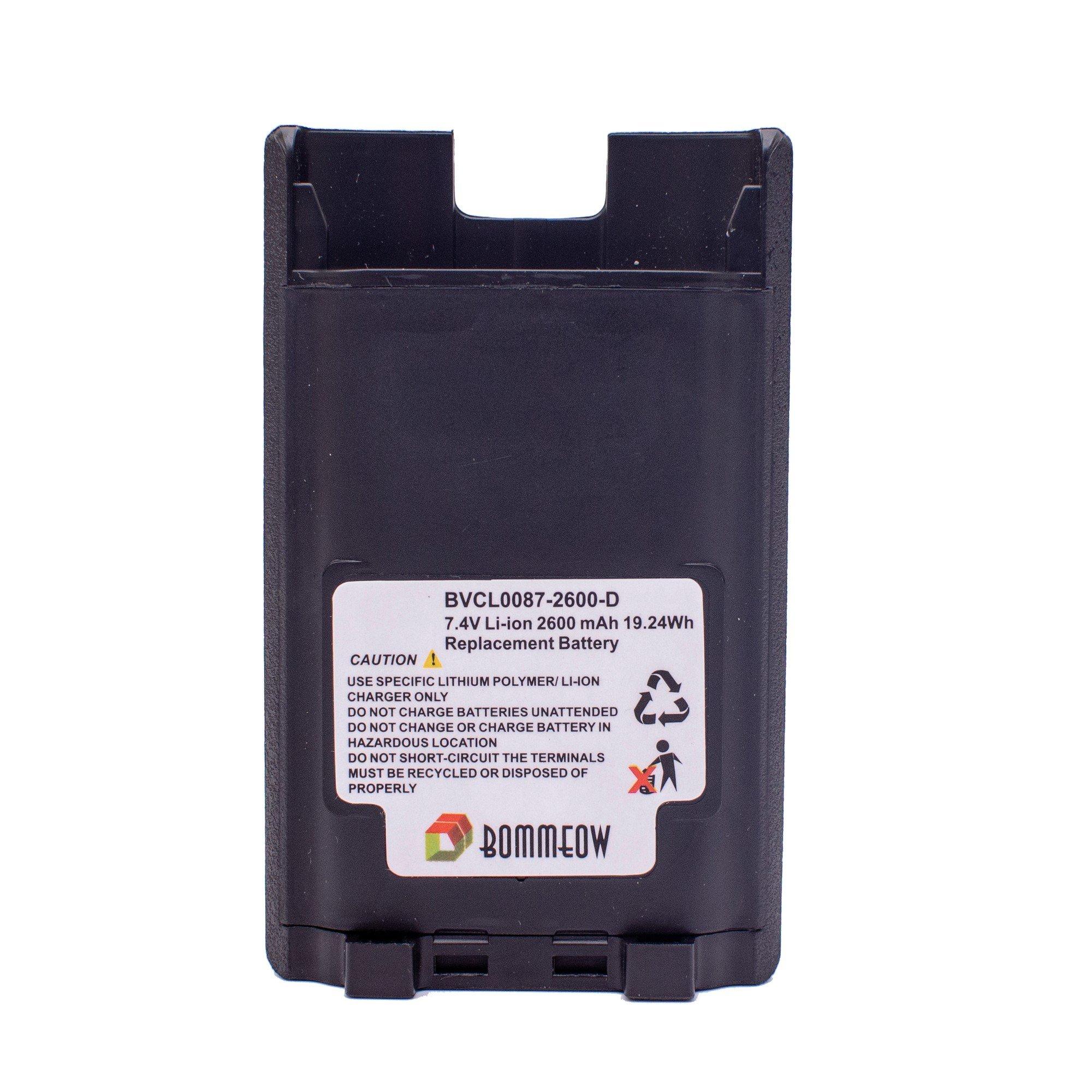 Bommeow BVCL0087-2600-D Replacement Battery for Vertex VX-820 VX-920 VX-970 Series VX-821 VX-824 VX829 VX-929 VX-979