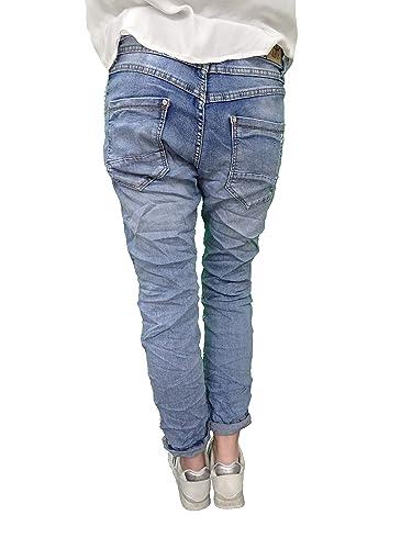 Karostar by Lexxury Denim Stretch Baggy-Boyfriend-Jeans Boyfriend 4 Boutons  Rangée Ouverte de Boutons Autre Couleurs  Amazon.fr  Vêtements et  accessoires a28e57c82cba