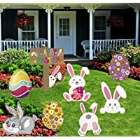 JoyPlay Easter Yard Sign Outdoor Egg Stake Set