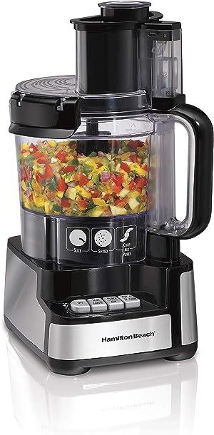Hamilton Beach 12-Cup Stack & Snap Food Processor & Vegetable Chopper, Black (70725A)
