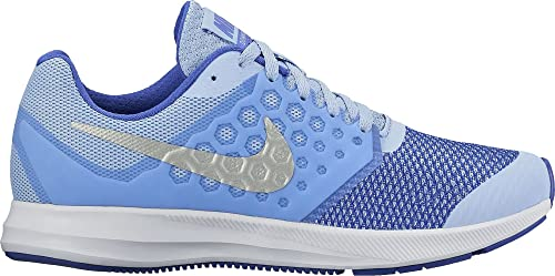 a757d298927d5 Nike Kids Downshifter 7 Big Kid Aluminum Metallic Silver Paramount Blue  Girls Shoes  Buy Online at Low Prices in India - Amazon.in