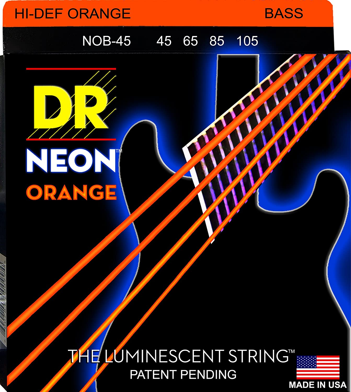 Super Special SALE held DR Strings HI-DEF Translated NEON Guitar Bass NOB-45