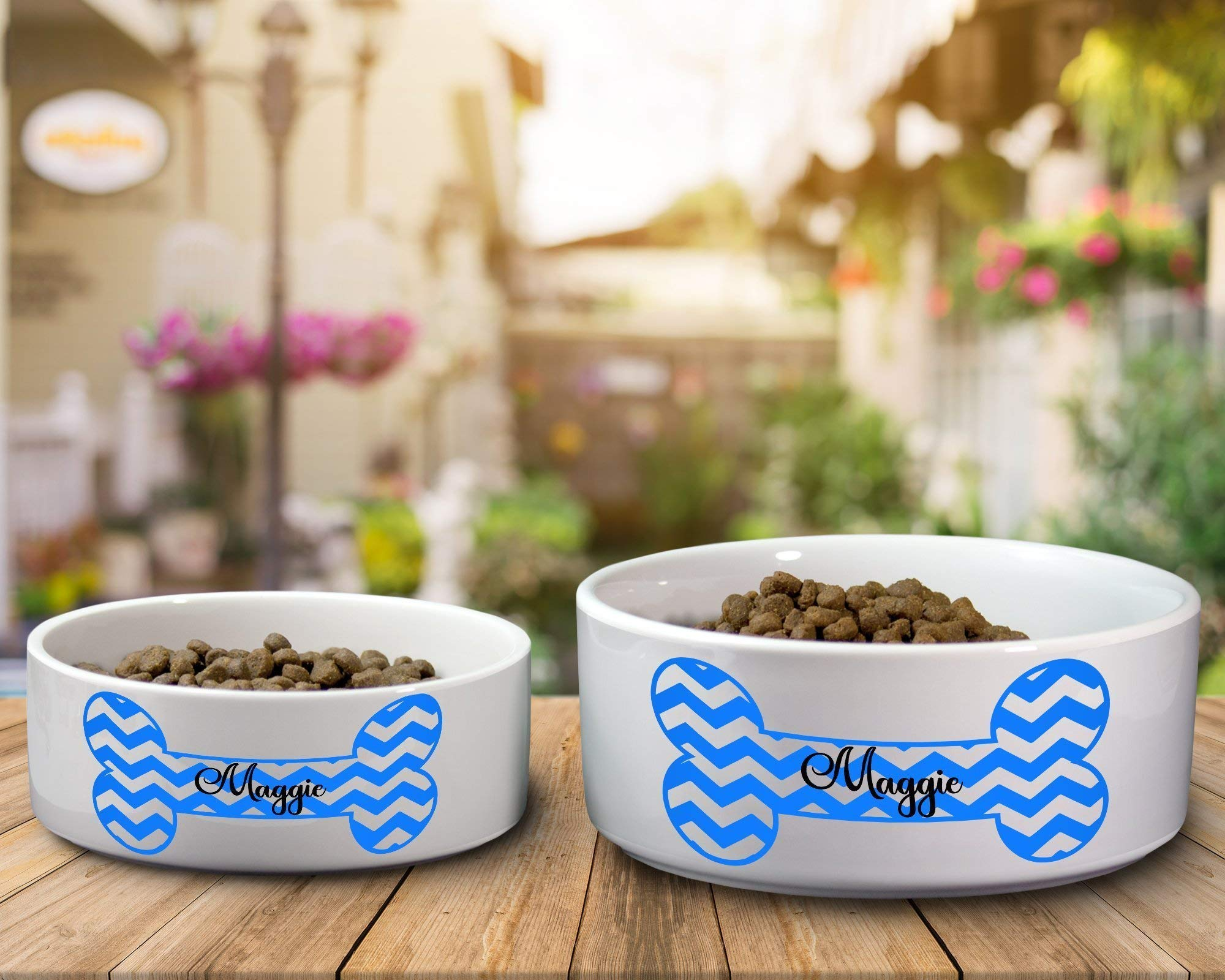 Ceramic Dog Water or Food Bowl - Small or Large Available