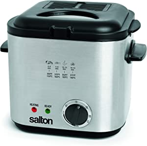 Salton DF1539 Stainless Steel Construction Compact Deep Fryer, 1 Litre