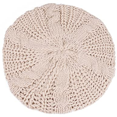 f5761079a1a Image Unavailable. Image not available for. Colour  ISASSY Women s Winter  Warm Knitted Crochet Slouch Baggy Beret ...