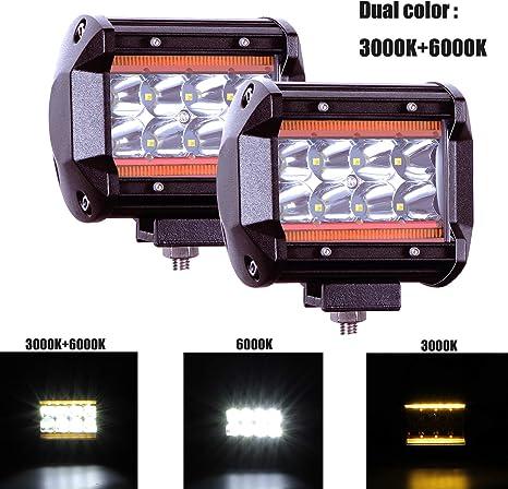 fuoristrada SUV luce spot-flood per camion UTV Faro da lavoro LED a barra Mictuning ATV