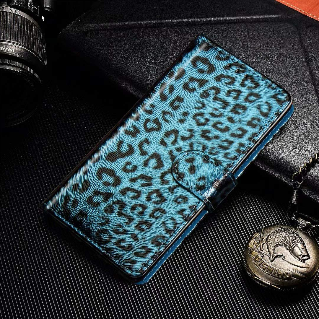 Veapero Samsung Galaxy S8 Case,Flip Leopard PU Leather Cover ShockProof Wallet with Magnetic Closure Stand Card Holder ID Slot Folio Soft TPU Bumper Protective Skin,Gold
