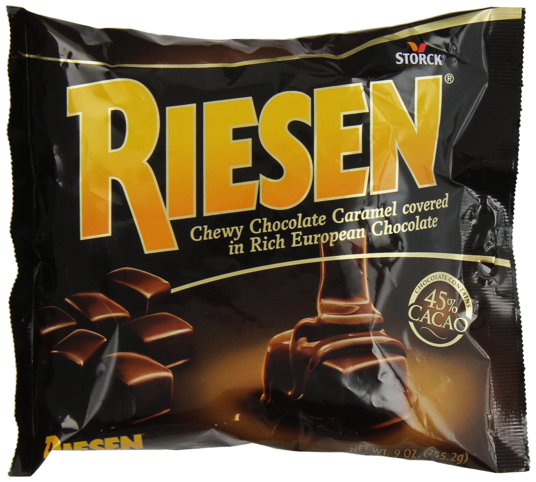 Riesen Chewy, Chocolate Caramel, 9 Ounce (Pack of 12) by Riesen