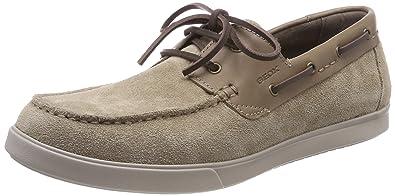 Geox U Walee D, Chaussures Bateau Homme, Bleu (Navy), 45 EU
