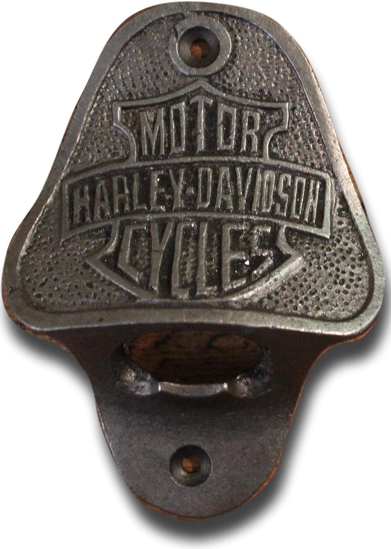 Abrebotellas de hierro fundido estilo antiguo Harley Davidson