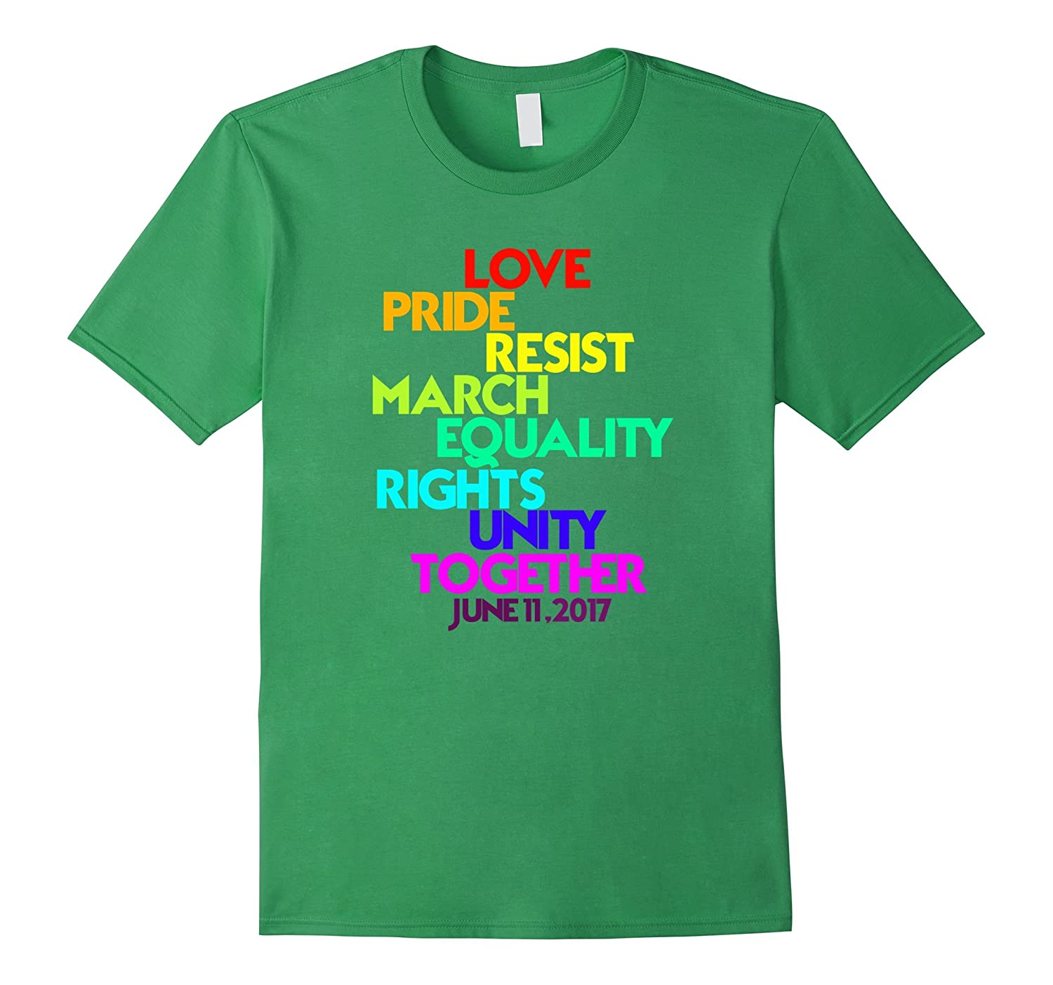 329cdfb35dc52 Love Pride Resist March Equality Rights Unity LGBT Shirt-Vaci