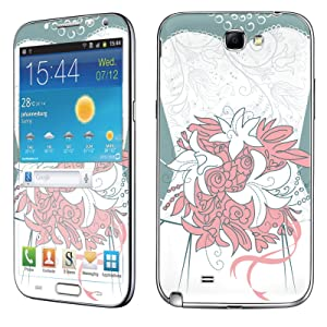 Samsung [Galaxy Note 2] Skin [NakedShield] Scratch Guard Vinyl Skin Decal [Full Body Edge] [Matching WallPaper] - [Wedding ] for Samsung Galaxy [Note 2]