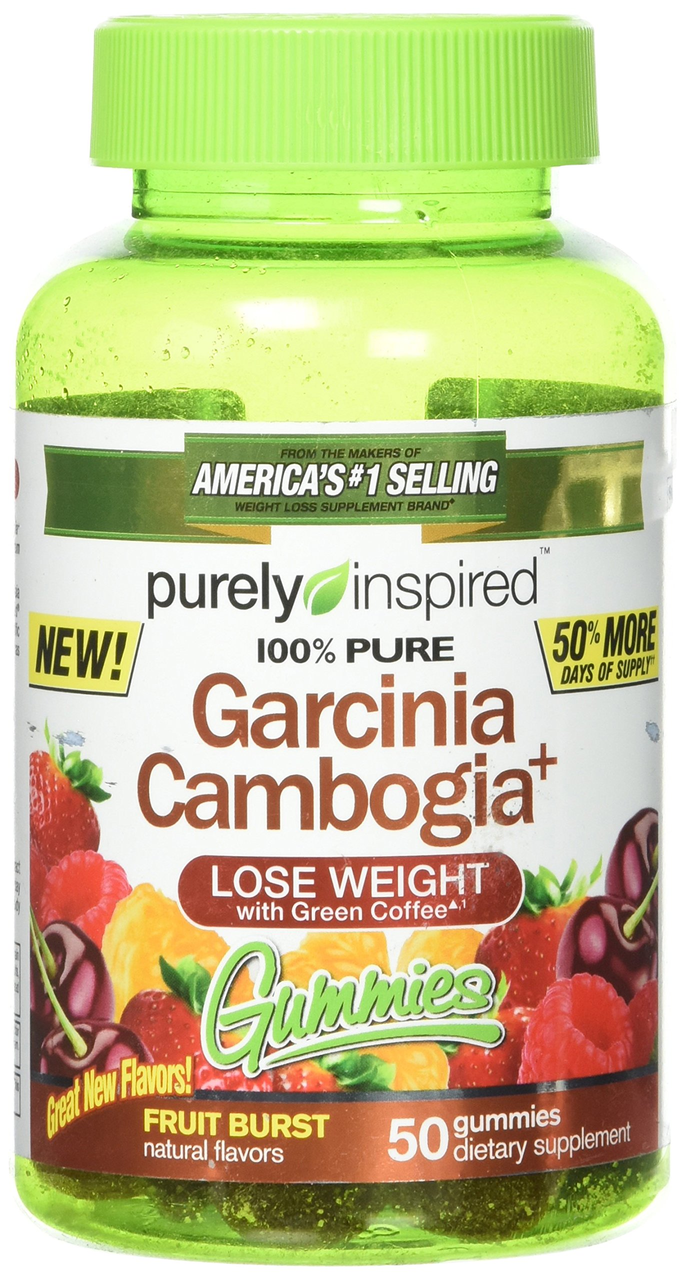 Purely Inspired Garcinia Cambogia Plus Gummies Fruit Burst 50