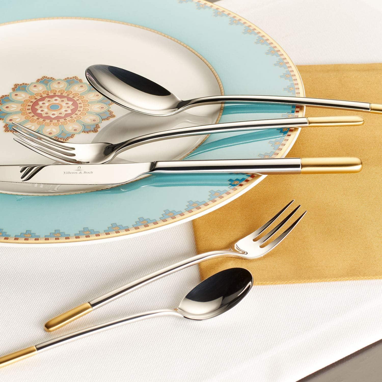 acero inoxidable 24,6 cm Villeroy /& Boch Ella Cuchara para servir parcialmente ba/ñado en oro