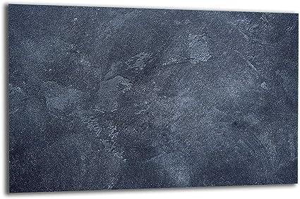 1 pi/èce protection anti-/éclaboussures planche /à d/écouper TMK Plaque de protection pour plaque de cuisson 80 x 52 cm blanc plaque de verre
