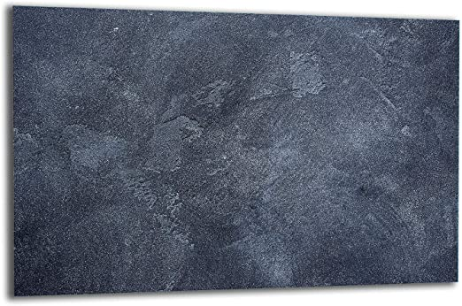 Herdabdeckplatte Ceranfeld 1 Teilig 80x52 Natur Blau Kochplatten Glas Induktion