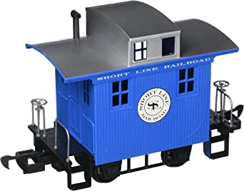 Bachmann Industries Li'L Big Haulers Caboose G-Scale Short Line Railroad with Blue/Silver Roof, Large