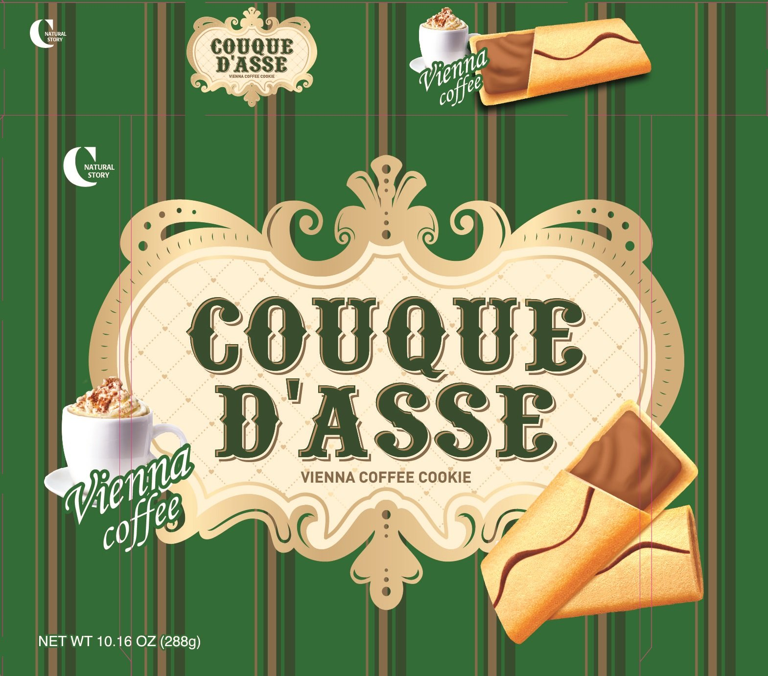 Natural Story Couque D'Asse Vienna Coffee Cookie, 10.16 Ounce