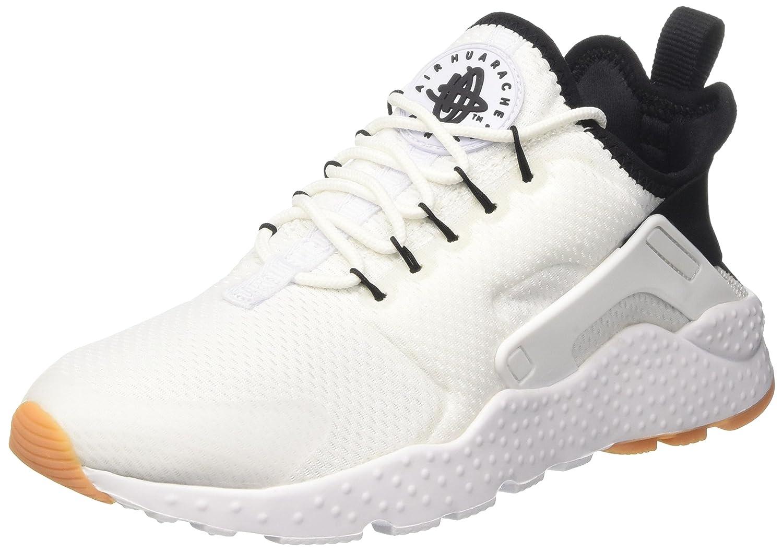 468f04d0c6e1 Nike Women s Air Huarache Run Ultra White Black Gum Yellow White Running  Shoe 7 Women US  Amazon.in  Shoes   Handbags