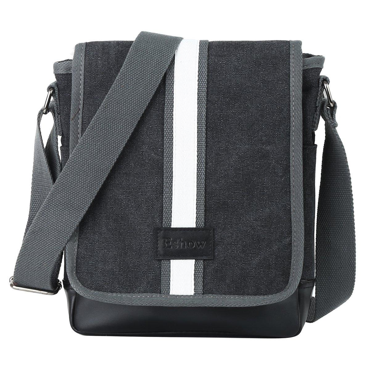 Eshow Men s Messenger Bag Shoulder Bag for Men Small Crossbody Bag Satchel for Work School