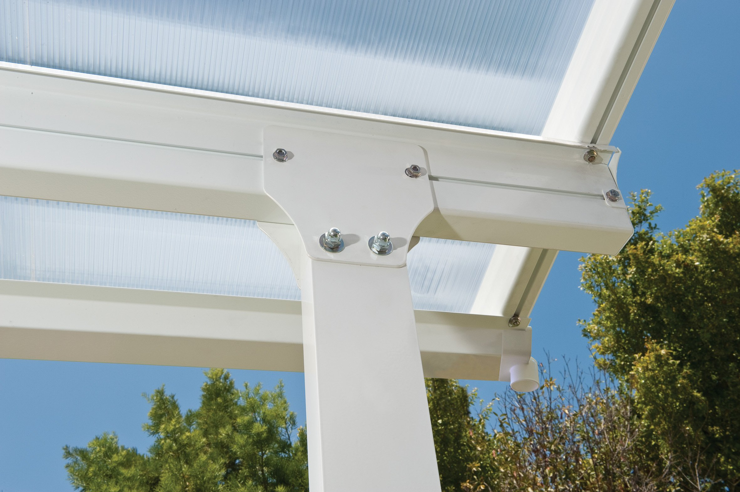 Palram Pergola Patio Cover Feria Robust Structure For Year Round Use 4x4 2 White Buy Online In Faroe Islands At Desertcart