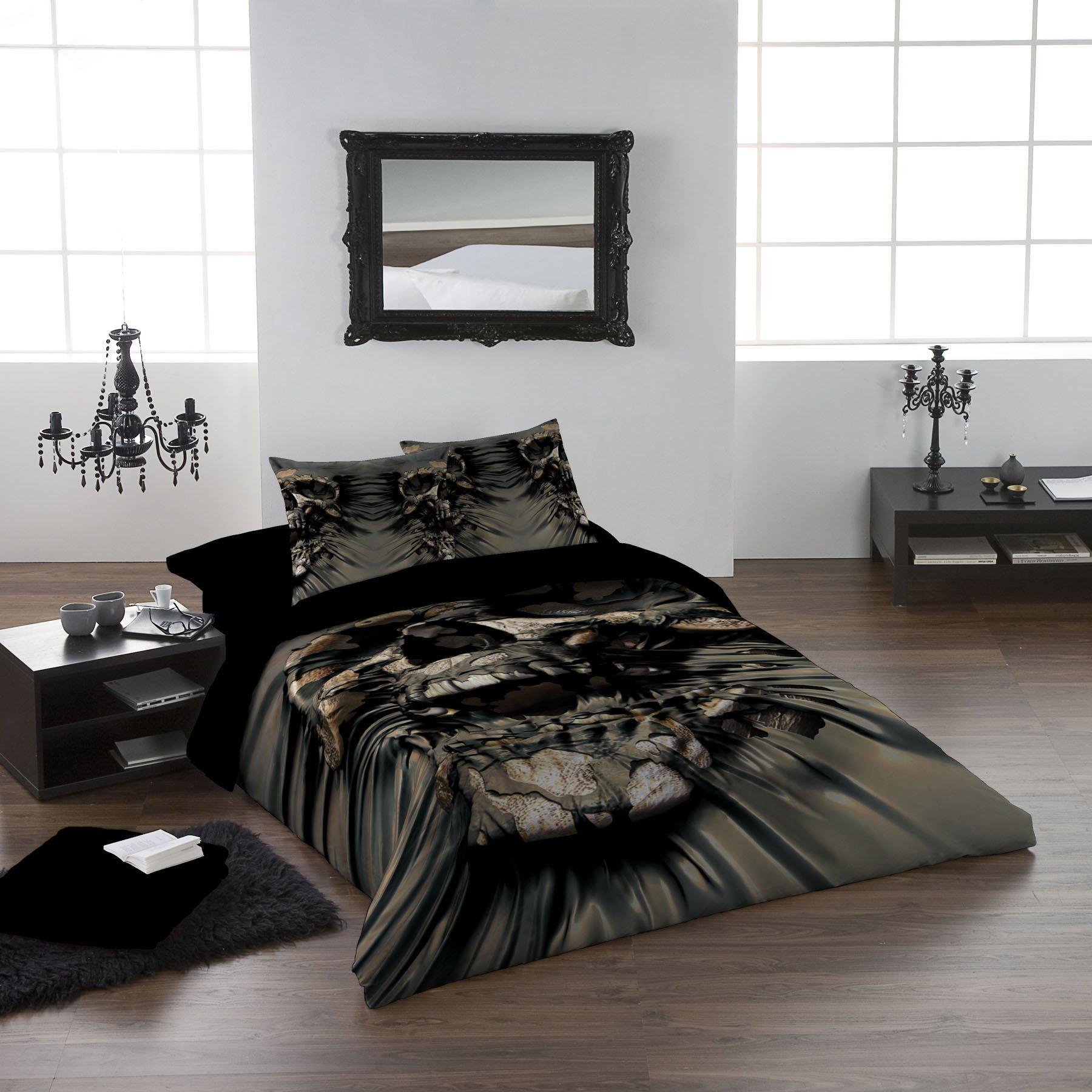 SKULL RIP Queensize Bed Duvet & Pillow Bed Linen Set Officially Licenced David Penfound