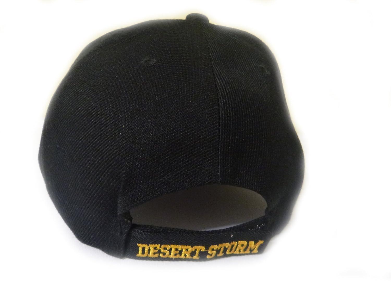 Desert Storm Veteran Baseball Cap BLACK Hat U.S. Army Air Force Marines  Navy HAT-DESERTSTORM-REG a2352cf2216b