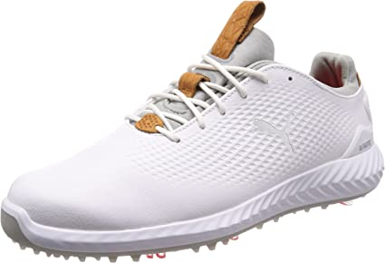 Puma Golf Hommes Ignite PWRadapt Chaussures de Golf en Cuir imperméable