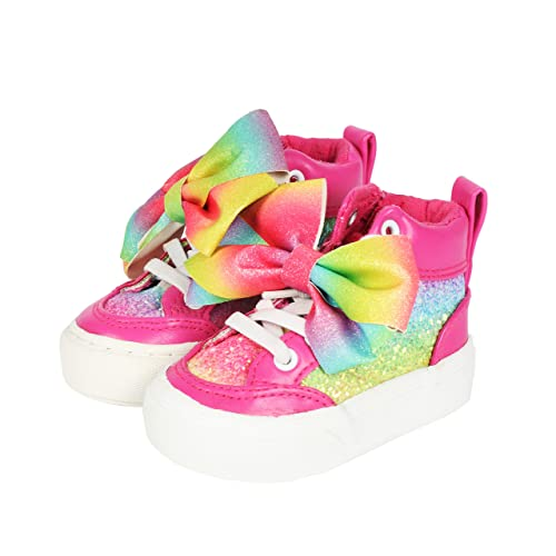 Pink Rainbow Glitter Zip On Sneaker