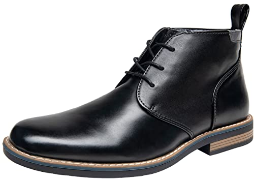 JOUSEN Men's Chukka Boot Leather Dress Boot Classic Ankle Boots (13,Black) best men's dress boots