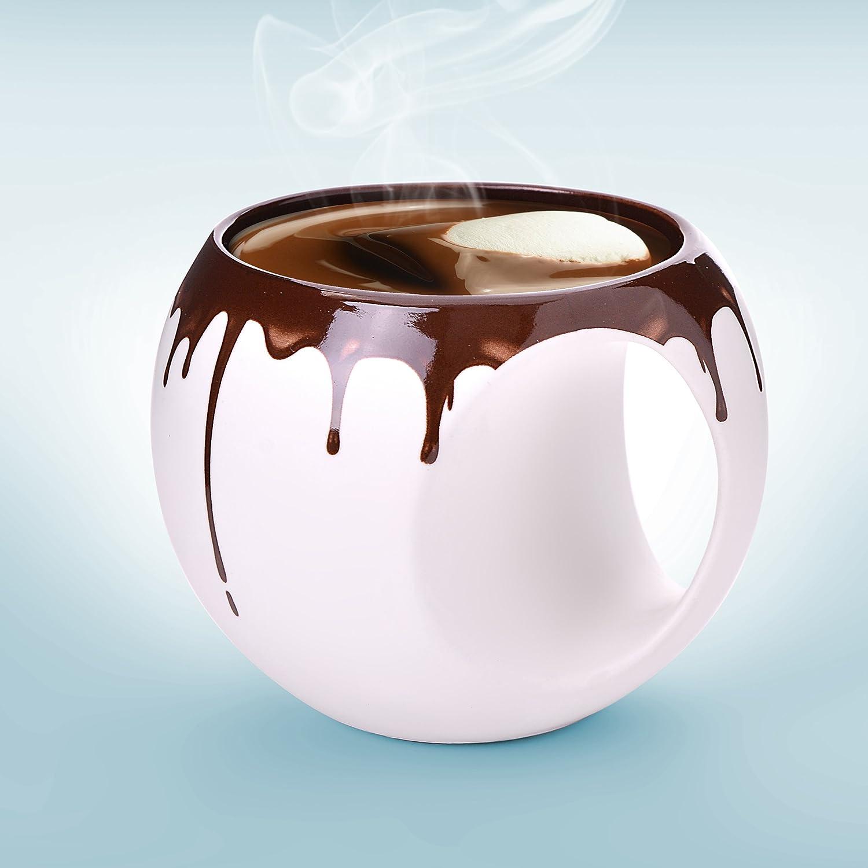 amazon com asobu chocolate mug 14 ounce coffee cups u0026 mugs