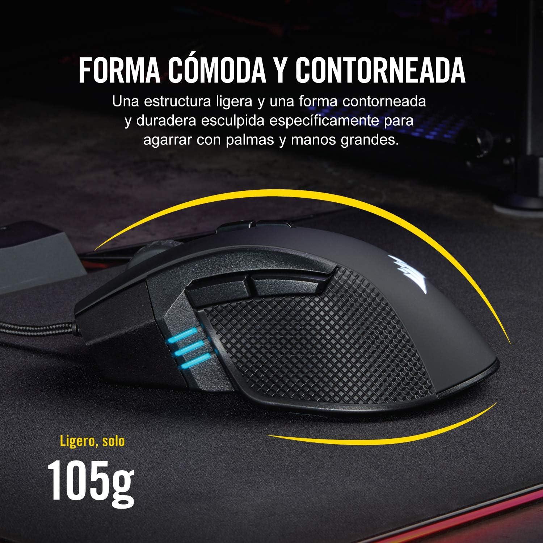 Corsair Ironclaw RGB - Ratón Óptico para Juego (con Cable, Mano ...