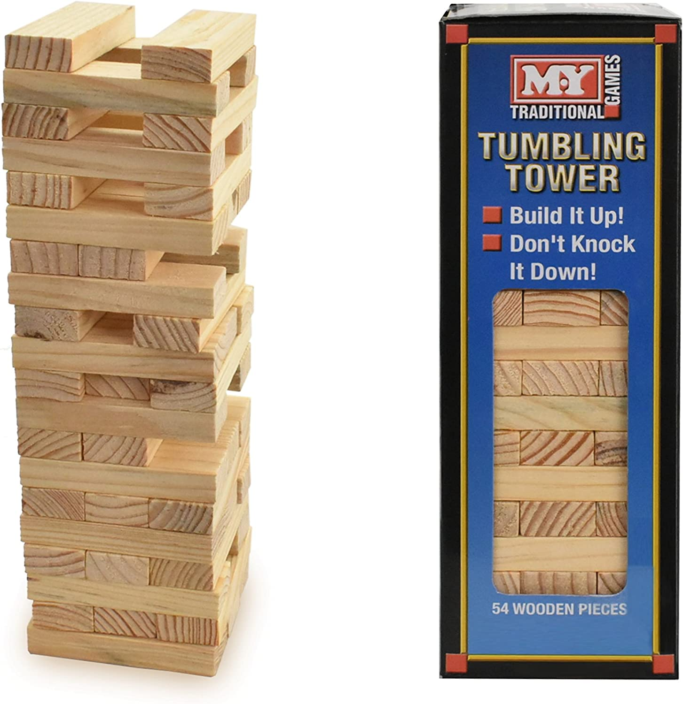 Juego tradicional de torre en bloques M.Y.